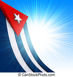 Cuban Flag - The Cuban flag on abstract glow background