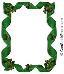 St Patricks Day Background Border - 3D Illustration for St...