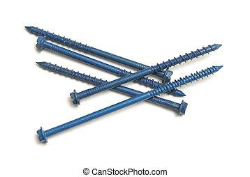 Concrete Screws - A pile of concrete screws for extra...