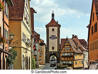 Rothenburg on the river Tauber,Bavaria,Germany - Rothenburg...