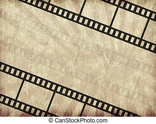 Blank film strip in the old style