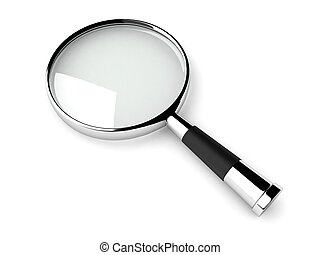 magnifiying glass - three dimensional magnifying glass...