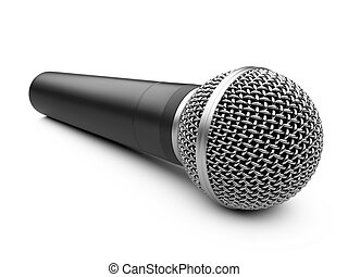 Microphone for Karaoke - microphone isolated on a white...