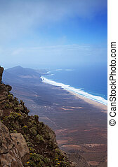 Southern Fuerteventura, Jandia, view from the highest point...