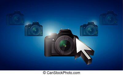 camera cursor selection concept