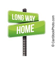 long way home sings illustration design over white