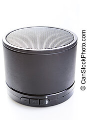 Mini portable speaker - Black mini portable speaker isolated...