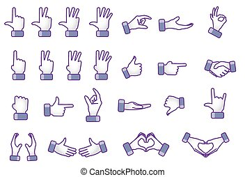 Different Hand gestures - Illustration concept of Different...