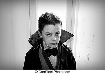 Dracula - young boy dressed as a vampire