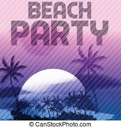 Sunset Beach Summer Party Flyer Des