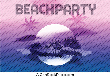 Sunset Beach Summer Party Flyer
