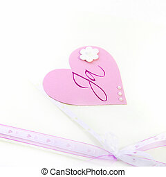Pretty pink Valentines heart and bow - Pretty pink paper...