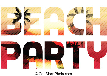 Sunset Beach Summer Party Type Design