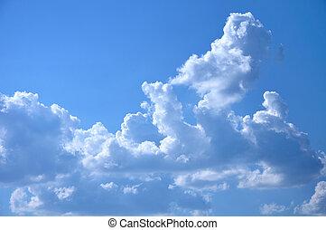 fluffy cloud in sky - fluffy cloud in blue sky