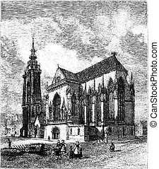 Saint Martins Church, vintage engraving - Saint Martins...