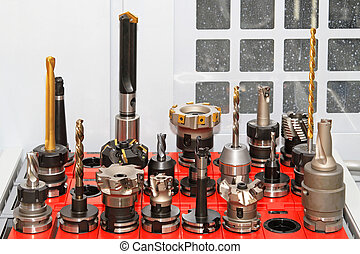 CNC tools - Collection of milling and drilling tools for CNC...