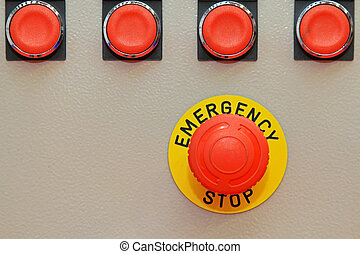 Emergency stop - Big red button for emergency stop machinery