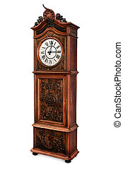 Old Grandfather Clock - Antique grandfather clock with...