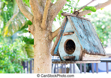 Bird House on a tree