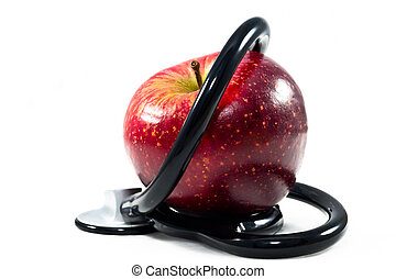 An apple a day keeps the doctor away - An apple with...