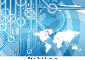 Global Business Technology Abstract - Global Business Color...