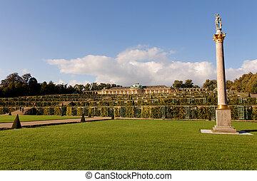 Park at Sanssouci - Gardens of Sanssouci castle in Potsdam,...