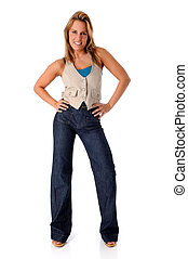 Woman in Casual Clothing - Young woman in casual clothing
