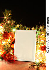Christmas Decorations - Frame from christmas ornaments...