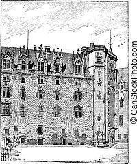 Castle of the Dukes of Brittany, Nantes, Pays de la Loire,...