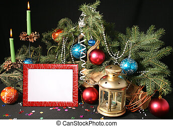 Christmas Decorations - Attributes of Christmas - lamp,...