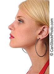 Profile of Beautiful Woman