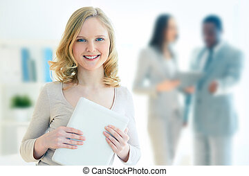 Business intern - Portrait of a lovely business intern...