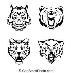 Animal Head set tattoo