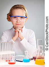 Science enthusiast - Vertical portrait of an enthusiastic...