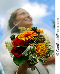 Portrait of a Bride - A portrait of a bride pictured on her...