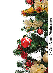 Christmas fir tree - decorated Christmas fir tree with gifts