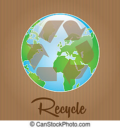 Earth, planet and nature icons