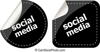 social media stickers set