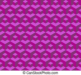 Seamless cubes pattern - illustration