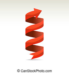 Ad ribbon, 360? wrapped around own axis, illustration
