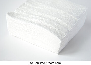 Paper napkins, - Paper napkins on a white background