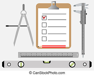 engineering tools - set of vector tools of the engineer