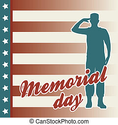 memorial day card over beige background. vector illustration