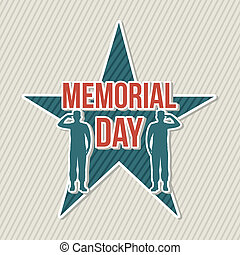 memorial day card over beige background vector illustration