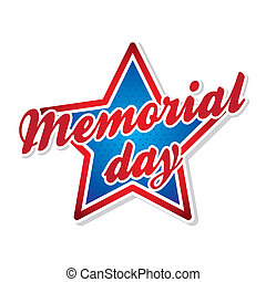 memorial day symbol over white background vector...