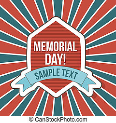 memorial day card over vintage background. vector...