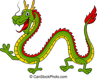Dragon cartoon  - Vector illustration of Dragon cartoon