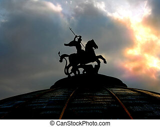 St George monument in Moscow - Monument in the center of...