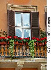 Romantic balcony, Rome