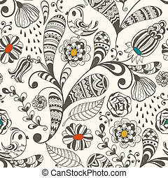 Spring Vector Seamless Wallpaper Pattern - vector spring...